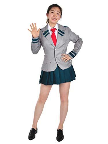 CoolChange Costume e Uniforme Scolastica Cosplay di Ochaco Uraraka   Uniforme da Ragazzina per i Fan di My Hero Academia   Taglia: S