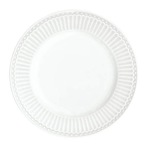 GreenGate - Teller, Kuchenteller, Dessertteller - Alice - Porzellan - weiß - D 17,5 cm