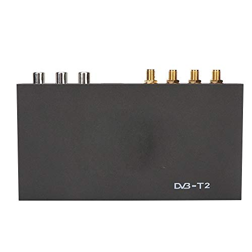 ASHATA Car TV Box, Mobile Digital TV Box HDMI, DC12V-24V Freeview DVB-T2 Tuner Box Receiver, Twin Tuners with Diversity Structure TV Box, para vehículo