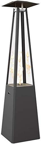 Kratki Umbrella - Estufa de Gas para Exteriores (48 kg, 216 x 50 x 10 cm, 10 Combustible: propano, Potencia térmica Nominal de 12 kW, Tiempo de combustión de hasta 17 Horas)