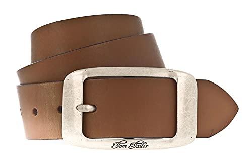 TOM TAILOR Damen Gürtel used cow leather belt cognac 105