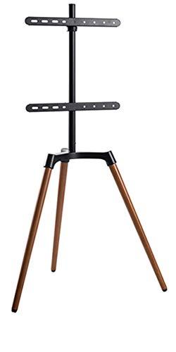 Staffelei/Bodenstativ für Flachbildschirme für Bildschirme 42'' - 65' (107-165 cm), Belastung bis 35 kg, Farbe: schwarz/Nussbaum, dunkel TV Halter