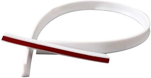Lanbowo Tür Dusche Damm Wasser Stopper Zusammenklappbar Dusche Threshold Wasser Schutz für Badezimmer Küche - Weiß