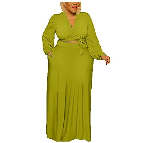 YANFANG Vestido Talla Grande Mujer,Vestido De Gran TamañO Manga Larga con Hombros Descubiertos Y para Mujer,Vestidos Mujer 2021,Vestido Largo Sexy,Vestido Verano Playa Mujer,Verde Claro,M