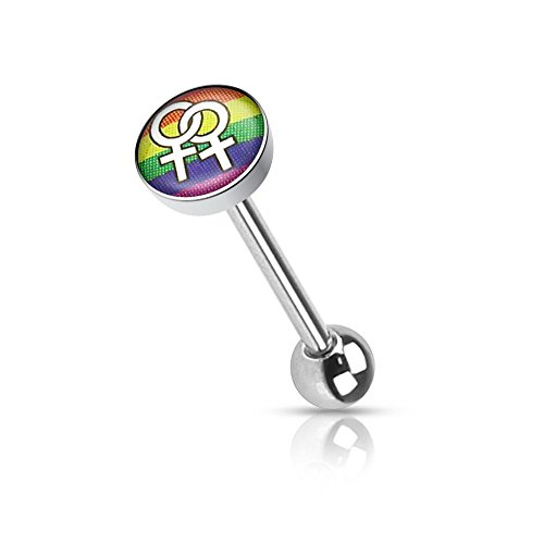 Zungenpiercing Logo Gay Pride–Frauen