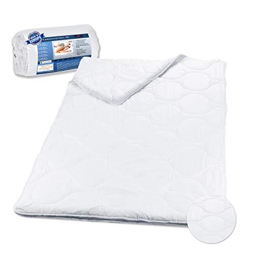 PHD Primera 4-Jahreszeiten Bettdecke 135x200 cm mit Druckknöpfen für Sommer- und Winterdecke mit innovativer Hohlfaser-Füllung. Atmungsaktiv, Öko-Tex 100 Zertifiziert und Allergiker geeignet. Plümo