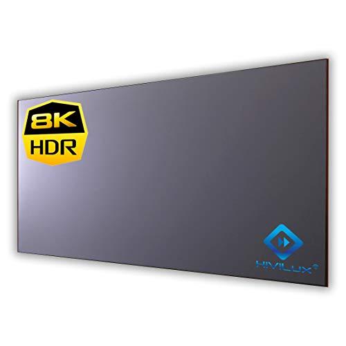 HiViLux Ultra Thin RahmenLeinwand Hochkontrast Grau Tuch: HiViGrey Cinema 5D/HDR Gain 1,35 (16:9 Bild:265x149cm 120