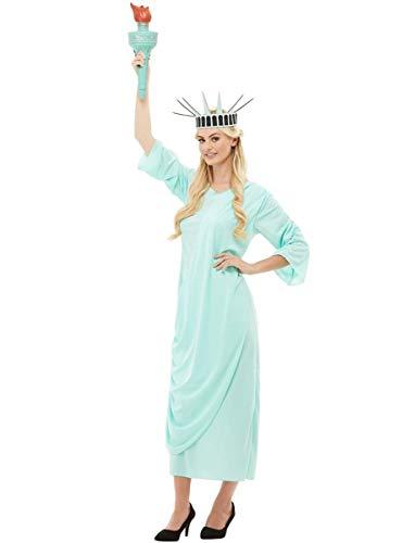 Funidelia | Disfraz de Estatua de la Libertad Oficial para Mujer Talla M ▶ América, Estados Unidos, EEUU - Azul