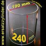 Verre de rechange chauffe Saucisses d = 190/H = 240 mm spéciale (Taille), jenaer verre