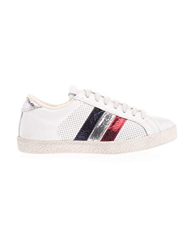 Moncler Luxury Fashion Damen 4M7134002S8P032 Weiss Leder Sneakers | Frühling Sommer 20