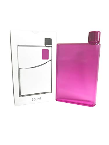 Botella de agua YINO portátil, elegante, transparente, reutilizable, sin BPA, a prueba de fugas, para deportes al aire libre, viajes. 350 ml rosa