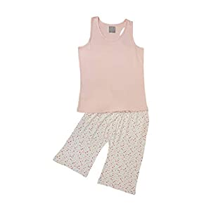 Shorts and vest in light pink with stripes Ladies pyjamas or lounge wear
