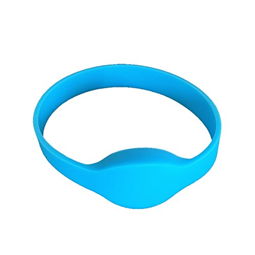 YARONGTECH HF MIFARE Classic® 1K RFID NFC Erwachsenen Größe Blau Armband Silikon Armband (10 Stück)