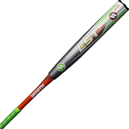 """Worth EST Comp XL ASA Slowpitch Softball Bat, 12.5"""" barrel, 26 oz"""