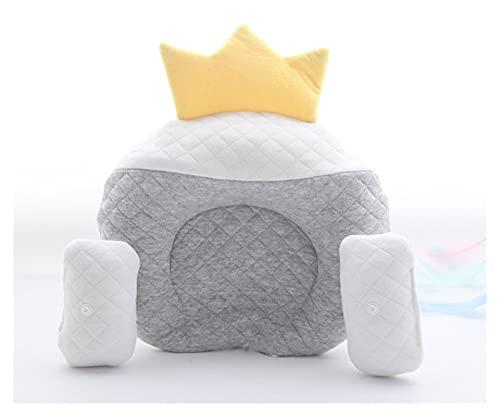xiucai U-förmiges Kissen für Neugeborene, U-förmiges Latexkissen, Baumwoll-Latex, Cartoon-Bär-Kissen, schläft gut in Kopfform (Farbe: gelb)