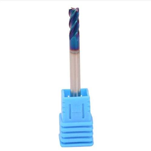 GUOCAO 50 mm 4 flautas Nano carburo de tungsteno extremo fresadora cortador para brocas de acero inoxidable herramientas