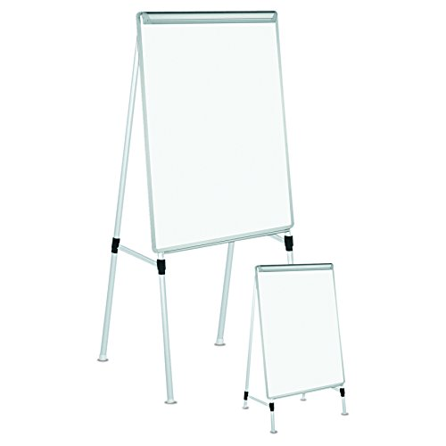 Universal Adjustable Dry Erase Easel, 29 x 40 White Board, Silver Frame