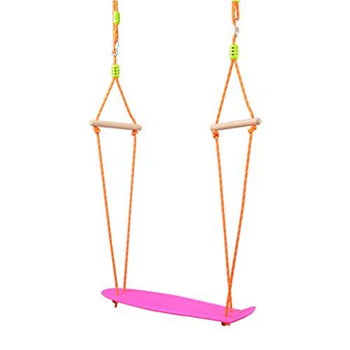 Klettergeräte & Schaukeln Schaukeln Kunststoff-Skateboard-Schaukel für Kinder im Innen- und Außenbereich, Materialsicherheit, Starke Tragfähigkeit Schaukeln (Color : Pink)