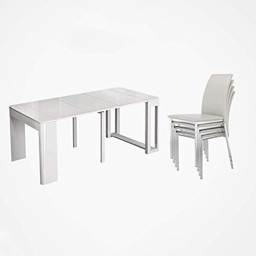 Accesorios de decoración Mesa de comedor de cocina Mesa de comedor plegable nórdica con sillas Mesa extensible multifunción de hoja abatible Mesa rectangular extensible (Color: Wulnut Tamaño: 184X8
