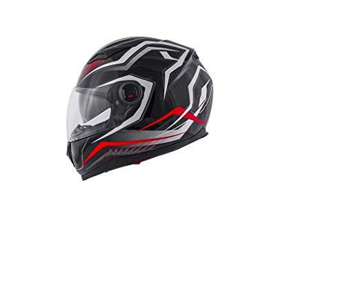 CASCO INTEGRALE KV27 DENVER MATT BLACK/RED KAPPA TG XL