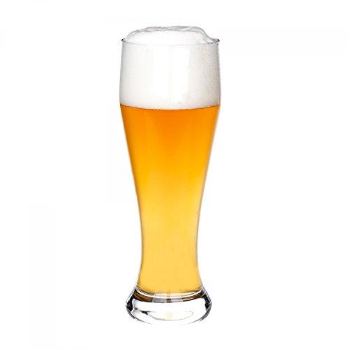 Van Well Bavaria Weizenbierglas klar | Bierglas geeicht bei 0.5L | Weizenglas | Weißbier-Glas | Gastro | Hotel-Restaurant & Bar