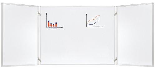 Franken K60/90 Klapptafel (2 Flügel, 90 x 60 cm) emailliert, weiß