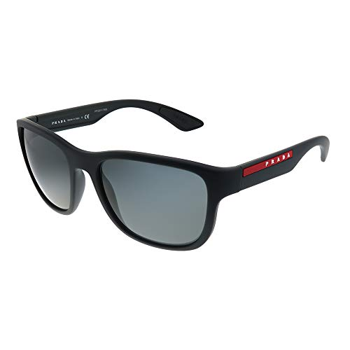 Prada LINEA ROSSA 0PS 01US Gafas de Sol, Black Rubber, 58 para Hombre