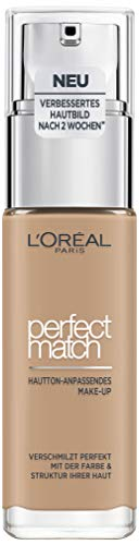 L'Oréal Paris Perfect Match Make-up 5.N Sand, flüssiges Make-up, für einen natürlichen Teint, mit Hyaluron und Aloe Vera