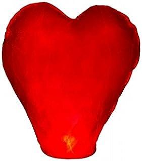PIXNOR Rouge Coeur Forme Ciel Battant Kongming Chinois Lanterne D/ésireux de Lampes 10pcs