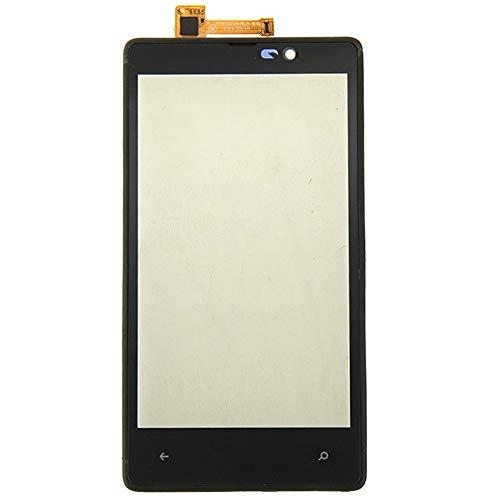 NO-LOGO Repair Parts Compatibile con Il Touchscreen Nokia Lumia 820 con Cornice