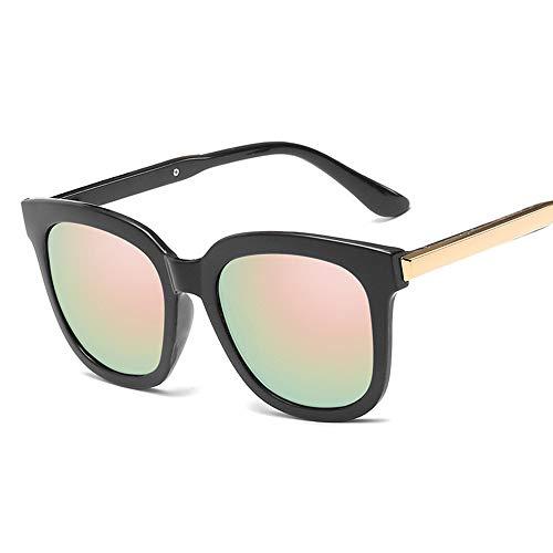YUANBOO Moda Oval Gafas de Sol Mujeres Diseño Revestimiento Espejo Lente Damas Ojo Gato Gafas de Sol UV400 Accesorios de Vestir (Lenses Color : C5 Blackpink)