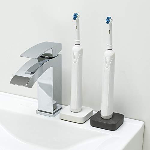 Support pour brosse à dents électrique Oral B en béton (gris et blanc)