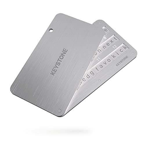Crypto Steel Wallet - Portafoglio in acciaio per Cryptovaluta, indistruttibile, SEED mnemonica compatibile con Ledger Nano S, Trezor e KeepKey - Keystone (formerly Cobo)