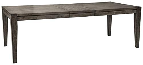 Signature Design by Ashley Chadoni Contemporary Dining Room Drop Leaf Extension Table, Gray
