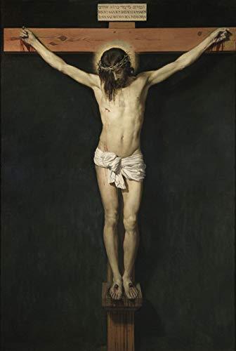 Velázquez Diego Rodríguez De Silva y el Cristo crucificado Rompecabezas de Madera Juguete de Madera Adulto Amigo de la Familia DIY Challenge Decoración de Pared 1000 Piezas