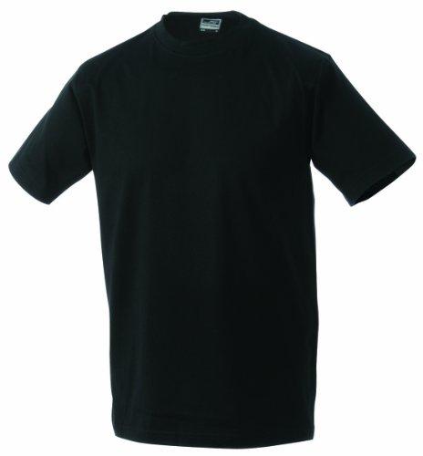 James & Nicholson Jungen Junior Basic Rundhals T-Shirt, Schwarz (black), X-Large (Herstellergröße: XL (146/152))