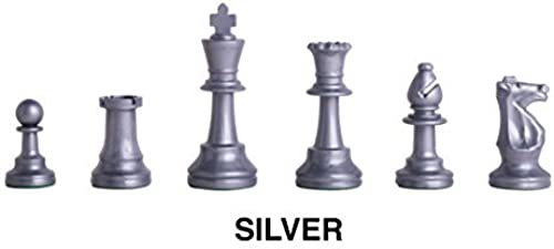 toma Triple - Weighted Regulation Colorojo Plastic Chess Pieces Pieces Pieces - plata by The House of Staunton, Inc.  venta con descuento