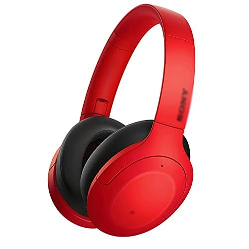 Binn Auriculares de Música Auriculares Bluetooth en audífono con Auriculares inalámbricos estéreo con Auriculares inalámbricos con micrófono para teléfonos celulares de PC (Naranja) Headphones