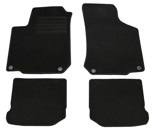 AD Tuning GmbH HG3823 Velours Passform Fußmatten Set, Schwarz fr Seat Leon 1M, Mod. Bj. 3/00-8/05