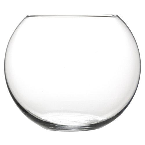 Inerra - Boccia per pesci, rotonda, in vetro, 20 cm, per fiori, bouquet e centrotavola