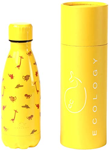 EC Ecology Botella para agua fría y caliente, de acero inoxidable, aislada al vacío, color Selva, tamaño 350 ml