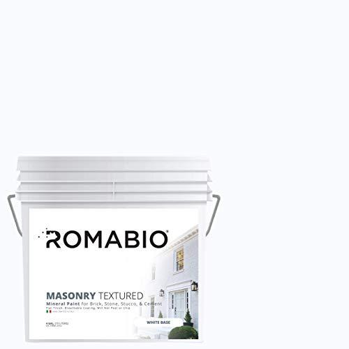 Romabio Masonry Textured, Italian Mineral Paint for Brick,...