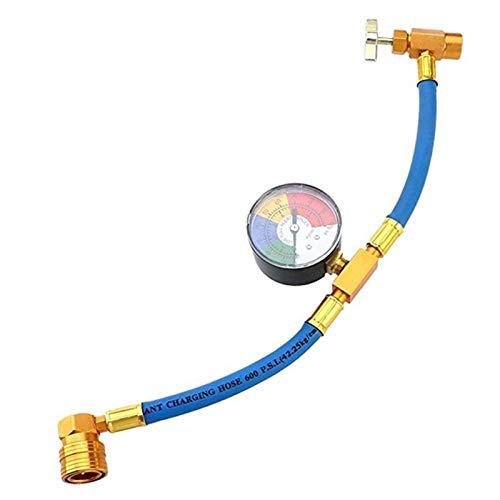 Super1Six Auto Auto Klimaanlage Kältemittel Aufladung Schlauch Fluorid Hinzufügen Rohr Rohrfahrzeug Klimaanlage Kältemittelanzeige (Color Name : R134A)