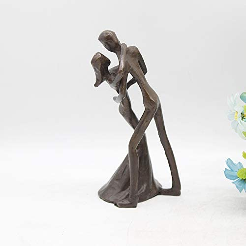 UJHNM Decor 1 year warranty Sculpturesstatue Figurines Ornament Iron OFFicial shop Cast Couple