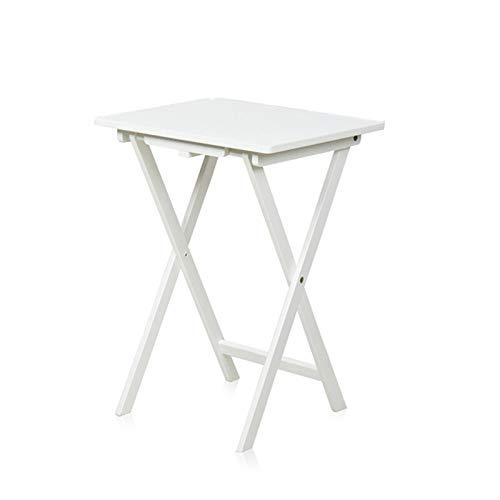LICHUAN Escritorio moderno y plegable para ordenador, mesa de trabajo, mesa pequeña, portátil, estudio, escritura, mesa de comedor, escritorio para casa, oficina, escritorio (color: blanco)