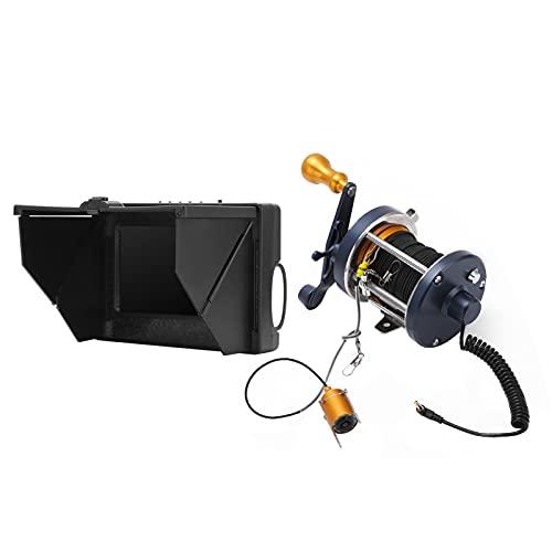 Cámara subacuática para Pesca, cámara de Pesca subacuática Resistente al frío con batería Correspondiente para Pesca Visual subacuática Monitoreo de acuicultura