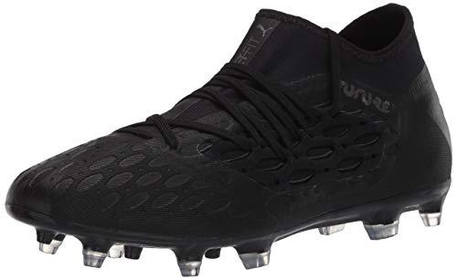 PUMA Men's Future 5.3 Netfit Firm Artificial Ground Soccer-Shoe, Black-Asphalt, 8 M US