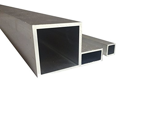 Tubo cuadrado de aluminio (20 mm x 20 mm x 2 mm x 2000 mm)