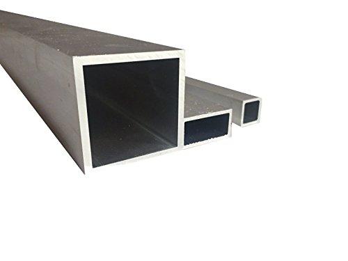 Aluminio Tubo cuadrado hueco Tubo Walz blankes (30mm x 18mm x 1mm x 2000mm)