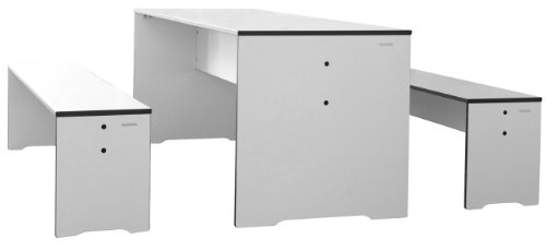 Conmoto Riva - Kids Garnitur -Tisch & Zwei Bänke - B 150 cm Weiss